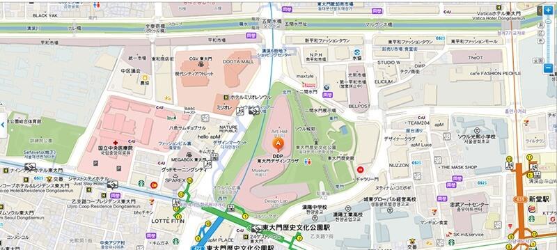 東大門市場地図